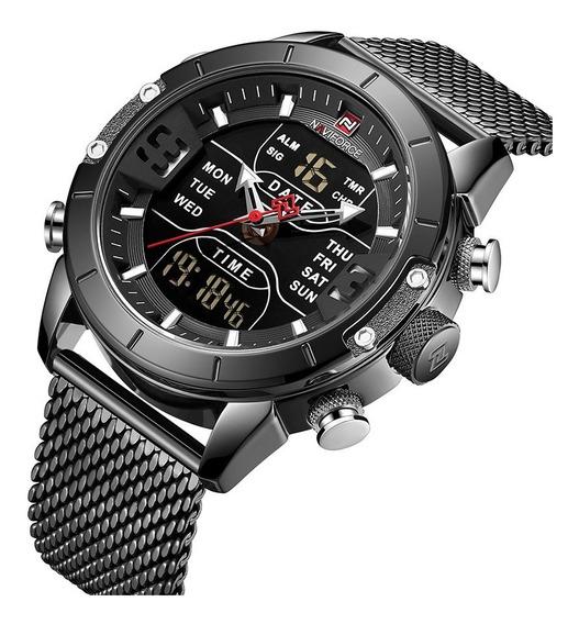 Relógio Masculino Naviforce 9153 Esportivo Digital Laçamen