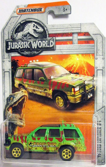 Matchbox Jurassic World ´93 Ford Explorer E:1/64 Mide 7 Cm.