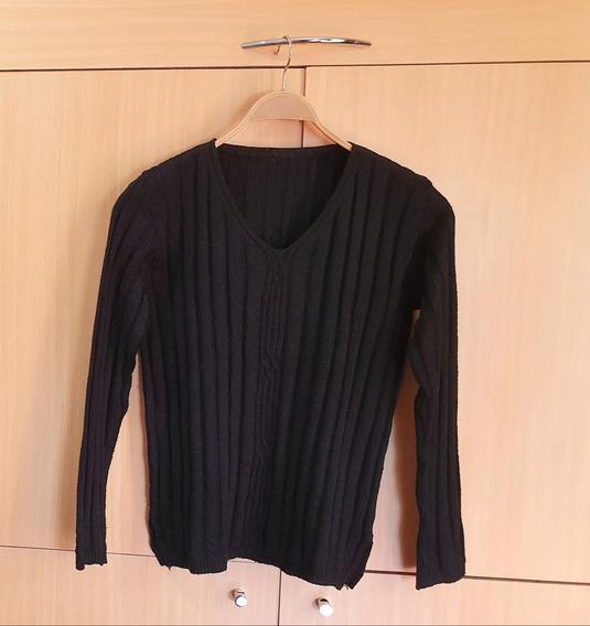 Buzo Pullover Negro Talle L