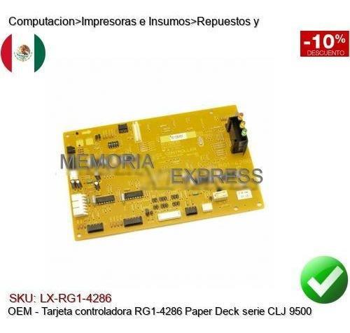 Imagen 1 de 1 de Tarjeta Controladora Rg1-4286 Paper Deck Serie Clj 9500