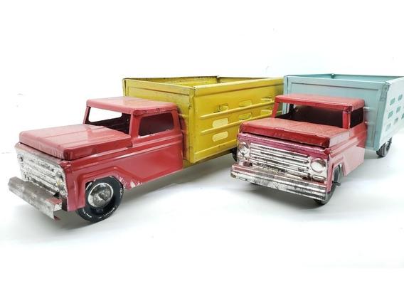 Camioneta De Lamina Redilas Troca Modelo Antiguo Escala 1:24