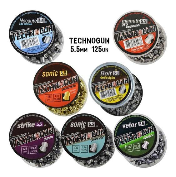 Chumbinhos Espingarda Carabina 07 Technogun 5.5mm Variados