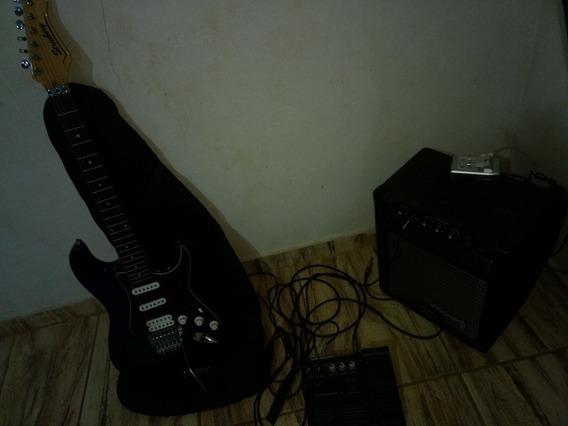 Troco Guitarra+ Amplificador+ Pedaleira.