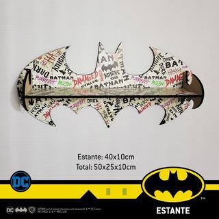 Repisa Estante Batman Lic. Oficial Dc Comics Infantil Adulto