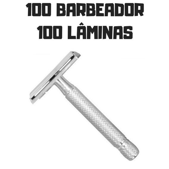100 Aparelho Barbear Antigo De Metal Barba Retrô Revenda