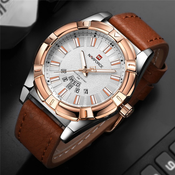 Relógio Naviforce Importado Original Modelo 9118 Branco