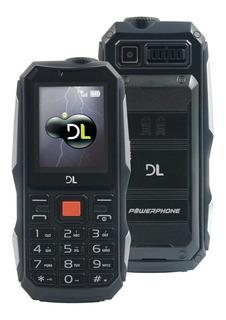 Celular Dl Powerphone Dual Chip Até 30 Dias De Bateria