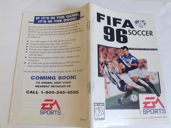 Manual Fifa Soccer 96 - Usa - Mega Drive - Original !