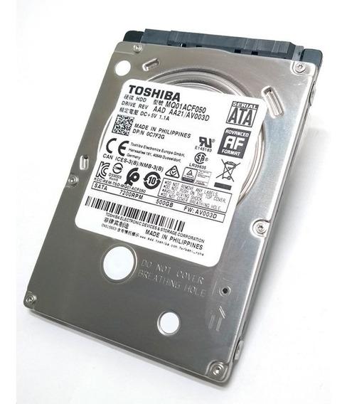 Hd 500gb Toshiba 2,5 Notebook 7200 Rpm Mq01acf050 Oem