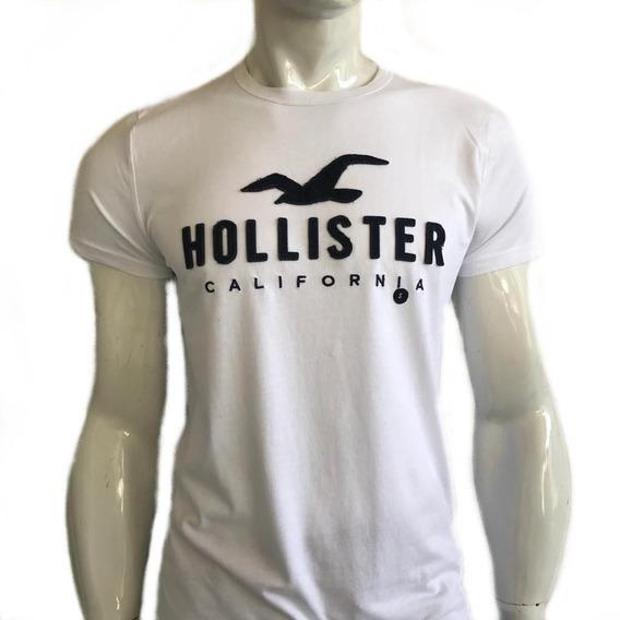 Camiseta Camisa Hollister Cali Masculina Branca Hco Original