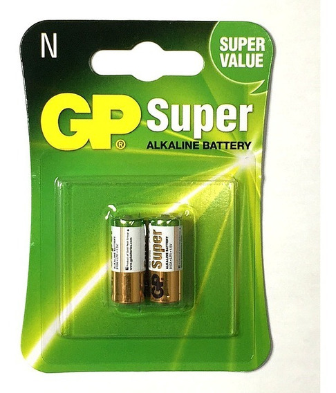 Bateria Super Alcalina Gp Pilha Lr1 1.5v 2 Pçs Tipo N