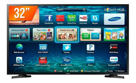 Smart Tv Led 32 Hd Samsung Lh32 2 Hdmi 1 Usb Wi-fi