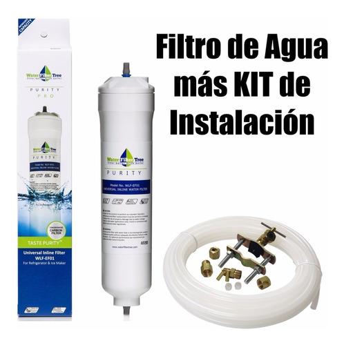 Filtro De Agua Para Nevera Externo -mas Kit De Instalación-