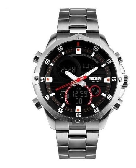 Relógio Masculino De Aço Prata - À Prova D