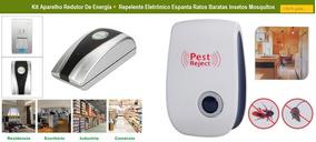 Kit Economizador De Energia Com Repelente Eletrônico