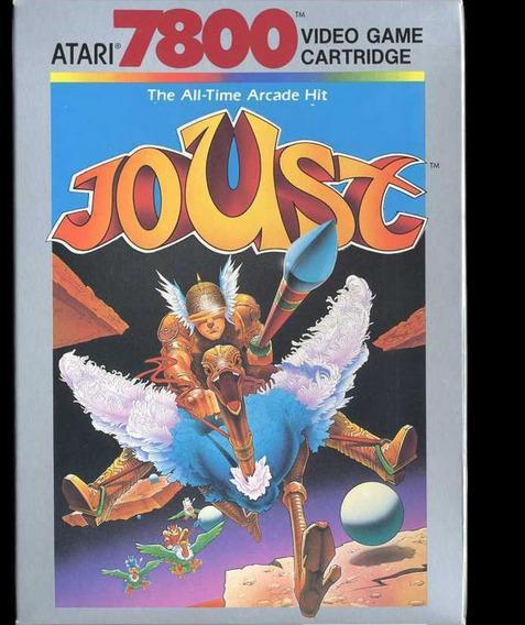 Atari Vintage Jogo Joust 7800 Lacrado Cartucho De 1989 Raro