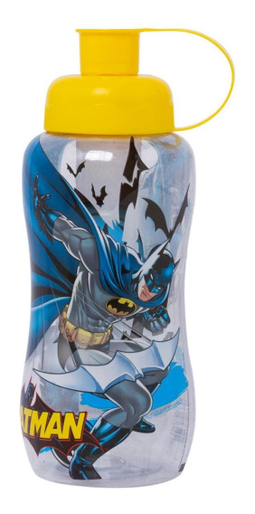 Garrafa Sleeve Batman Com Tubo De Gelo Amarela 550ml