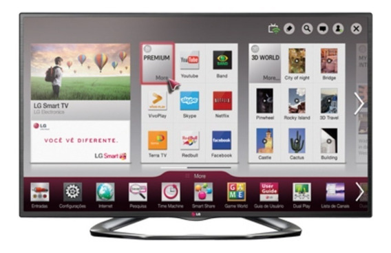 Lg Smart Tv 3d 47 Polegadas Com (defeito!) Modelo 47la6200