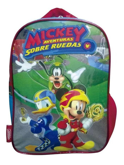 Mochila 12 PuLG. Mickey Sobre Ruedas Originales - Art. Km719