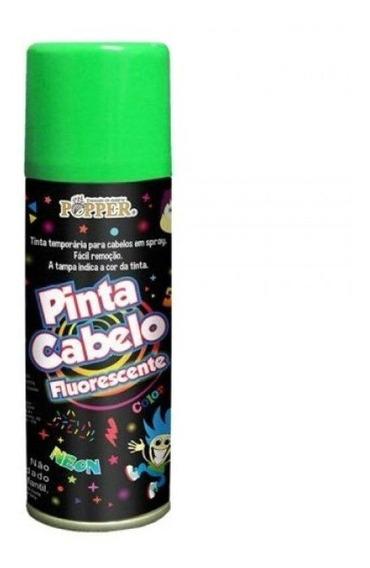 Tinta Pinta Cabelo Fluorescente Popper Cor Verde