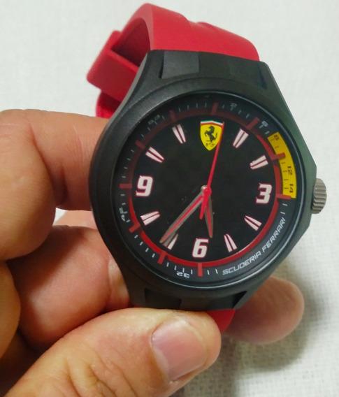 Relógio Ferrari Vermelho Preto 43mm 30 Metros Original Lindo