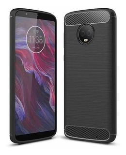 Tpu Carbono Fibra Carbono Motorola Moto X4 + Mica Vidrio