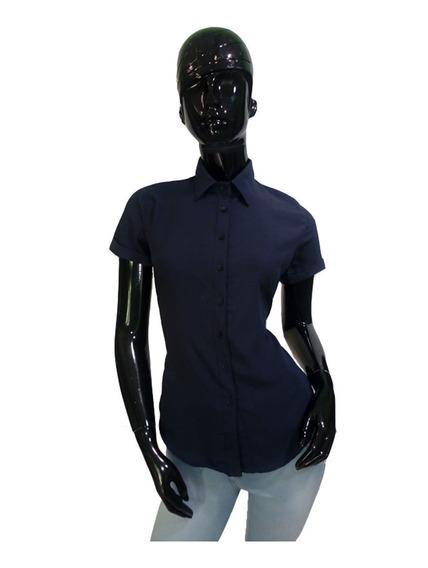 Blusa/camisa Dama Vestir Manga Corta Moderna Fina Tendencia