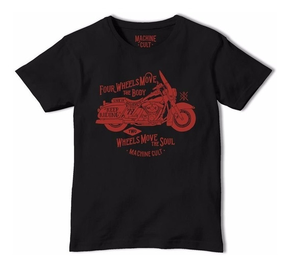 Camiseta Moto Custom - Preta