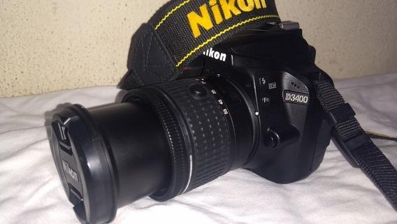 Nikon D3400 Como Nova Lente Kit Bolsa Cartão De Memória