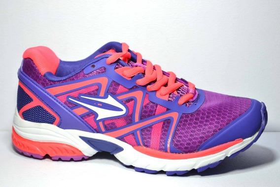 Zapatillas Runnning Topper Zeal Mujer Violeta Coral