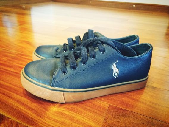 Zapatillas Polo Originales Cuerina Azul Marino