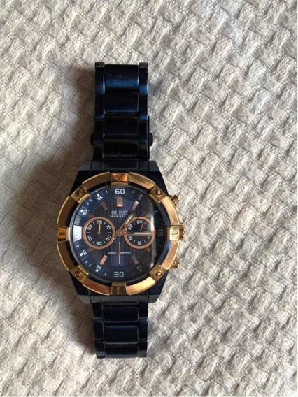 Relógio Guess Masculino Azul - U0377g4 Original Com Garantia