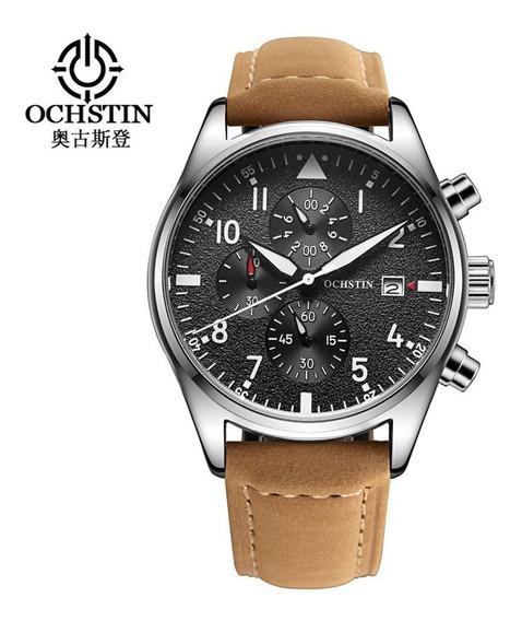 Relógio Masculino Ochstin 6043 Brown Inox À Prova D