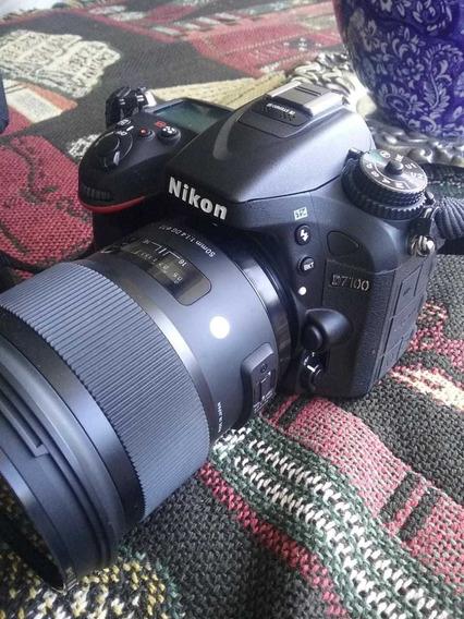 Câmera Nikon D7100, Acompanha Lente Sigma 50mm F 1/4