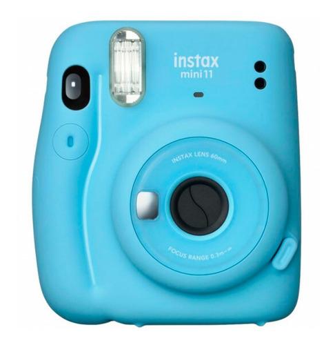 Imagen 1 de 8 de Cámara Instantánea Fujifilm Instax Mini 11 Aa Celeste Nnet