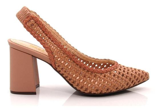 Sapato Scarpin Feminino Salto Grosso Olfer Shoes 50086-0