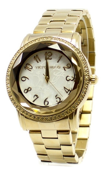 Relógio Victor Hugo Original Vh 10075 Lsg/28m