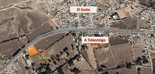 Imagen 1 de 2 de Terreno En Venta, Carretera Pachuca Tulancingo, El Susto, Si