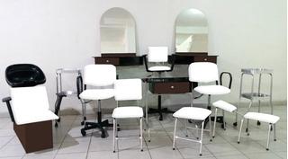Equipo Para Estética Salón De Belleza 12 Muebles Glam Quickl