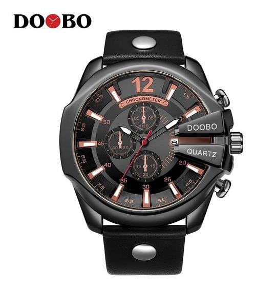 Relógio Masculino Doobo/ketvi Dourado - Extra Elegante.