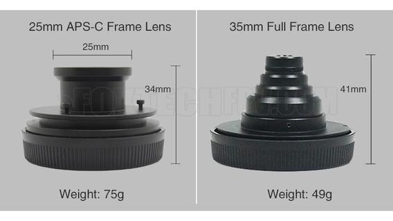 Lente Foxtech 25mm F5.6 Para Mapeamento Aéreo Lente Sony