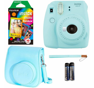 Fujifilm Instax Mini 9 - Cámara Instantánea Azul Hielo, 10 I