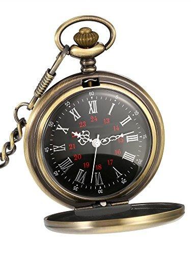 Reloj De Cuarzo Acero Con Cadena Mudder Bolsillo w0kOnP