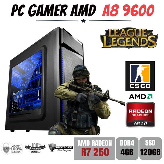 Pc Gamer Bg023 Amd A8 9600 4gb Ddr4 R7 250 Apu Ssd120gb