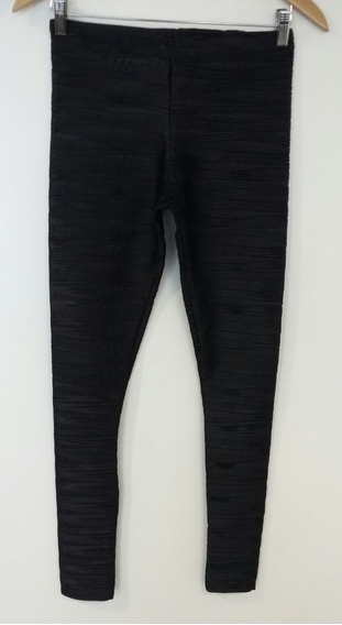 Pantalón Calza Negro Texturado Asos Talle 34