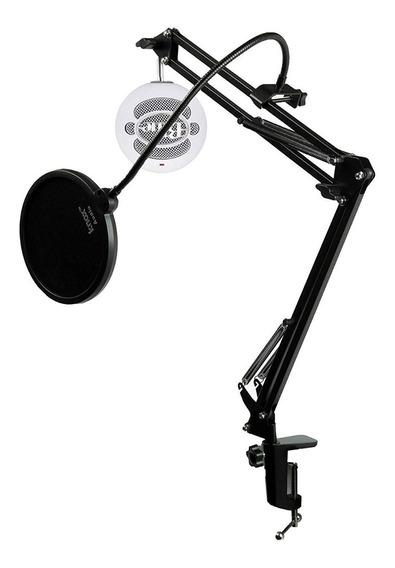 Blue Snowball Microfone +braço Articulado+pop Filter Usado