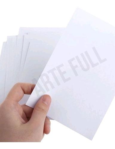Imagen 1 de 1 de Papel Adhesivo Sin Brillo Carta Todo Tipo Impresora Etiqueta