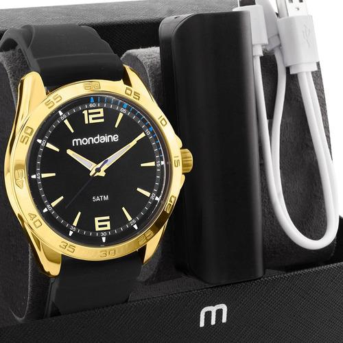 Relógio Masculino Mondaine Com Carregador 83479gpmvdi2k1
