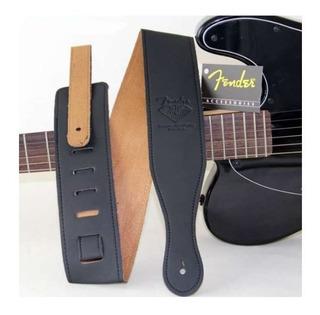 Tahali Guitarra Negro Tali Strap Fender Excelent Envio Grati