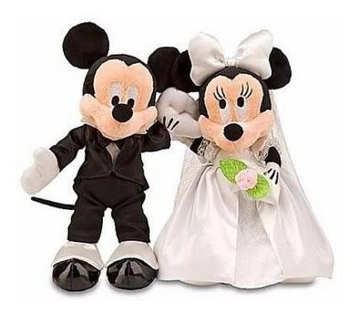 Disney Pelúcia Mickey E Minnie Noivos Original Disney